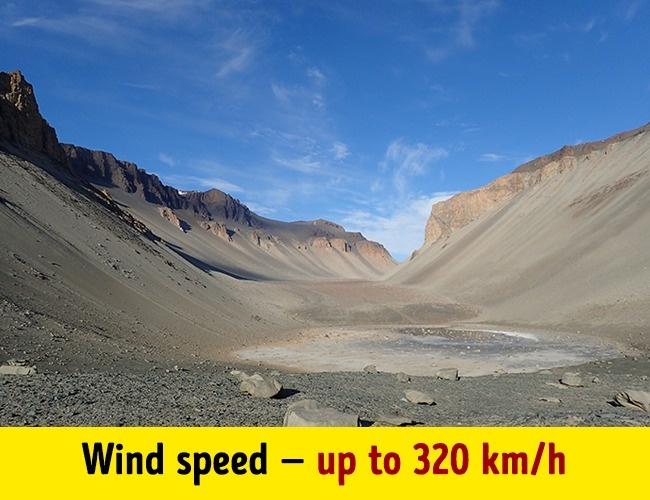 พื้นที่ที่แห้งแล้งที่สุดในโลกอยู่ที่ทวีปแอนตาร์กติกา