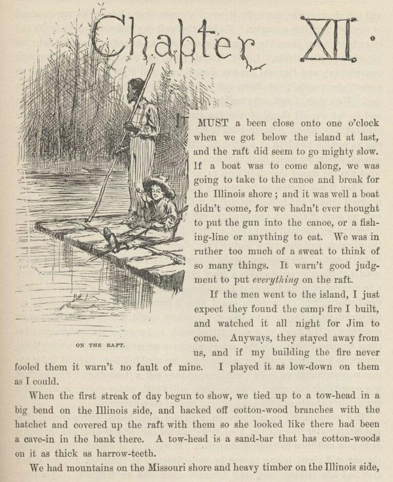 Huckleberry Finn 1884, Mark Twain